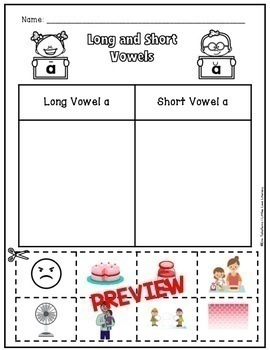 FREE Long and Short Vowel a Word Sort