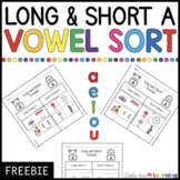 FREE Long and Short Vowel A Sort | Cut and Paste Worksheet