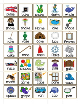 Long and Short Vowel a - a/a_e File Folder Word Sort