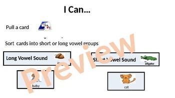 Long and Short Vowel sort game