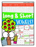 2.RF.3a - Long and Short Vowels - Activities (Games, Centers, Printables)