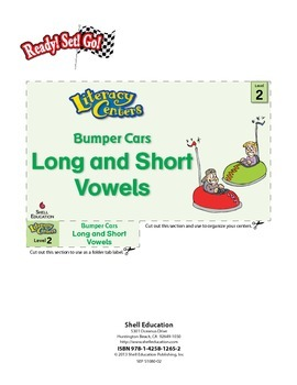 Long and Short Vowels--Bumper Cars Literacy Center (eLesson)
