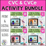 Long and Short Vowels Bundle | CVC CVCe Printable and Digi