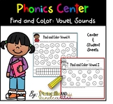 Long and Short Vowels  Center- Find, Color, Graph