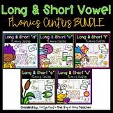 Long and Short Vowels Centers BUNDLE