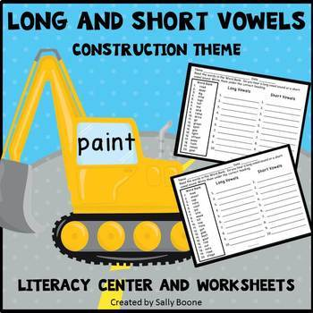 Long and Short Vowels - Construction Theme
