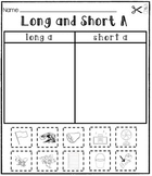 Long and Short Vowels [[Cut and Paste Packet #1]]