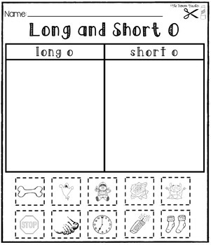 Long and Short Vowels [[Cut and Paste Packet #2]]