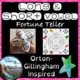 Long and Short Vowels Fortune Teller Activity - Orton-Gillingham inspired!