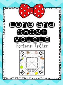 Long and Short Vowels Fortune Teller Activity - Orton-Gillingham inspired!