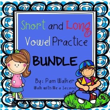 Long and Short Vowel Practice for Grades K-2 BUNDLE