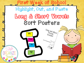Long and Short Vowels Word Sort