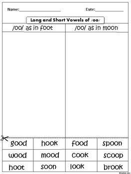 Long and Short Vowels of /oo/