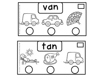 Long and Short 'a' CVC Word Booklets