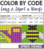 Long and Short a Color by Code with a Twist Spring Themed