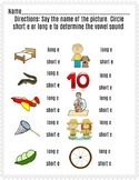 Long and Short e Worksheet III