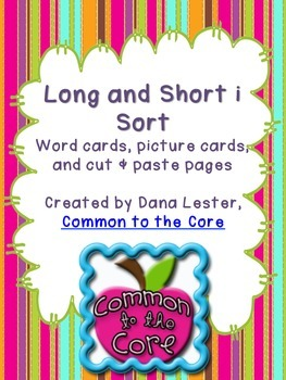 Long and Short i Sort {word work}