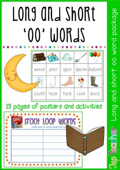 Long and Short 'oo' words work package