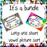 Long and Short vowel (picture sort bundle)