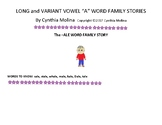 Long and Variant Vowel A Word Family Stories