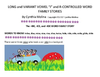 Long and Variant Vowel I and R Controlled Family Stories
