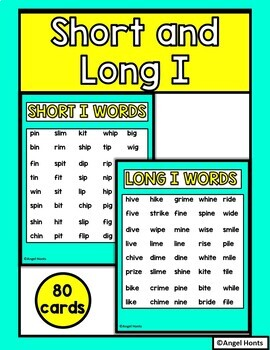 Short and long I vowel game with silent e