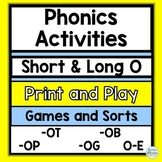 Short and long O vowel game with silent e