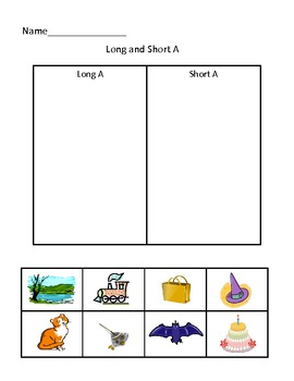 Long and short vowel picture short
