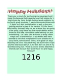 Long division and 2 x 2 multiplication Christmas word prob