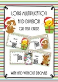 Long division and multiplication -  QR-task cards   - decimals