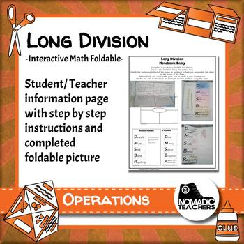 Long Division Interactive Notebook Math Foldable By 2