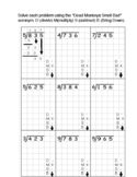 Long division with DMSB acronym visual steps