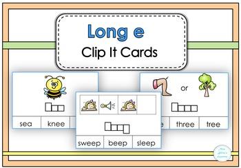 Long e Clip It Cards