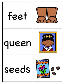 Long e (EE) Picture Word Match