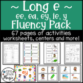 Long e Fluency Pack (ee, ea, ey, ie and y)
