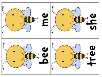 Long e Honey Bee Word Sort