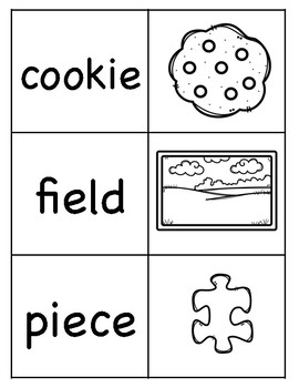 Long e (IE) Picture Word Match