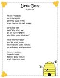 Long e Little Bees Fluency Poster