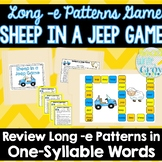 Long -e Patterns File Folder Game {Sheep in a Jeep}