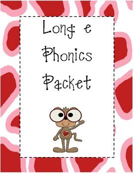 Long e Phonics Packet
