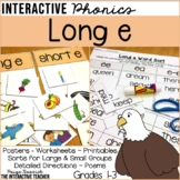Long e Word Work Activities -  Sorts, Worksheets & Poems