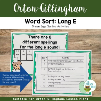 Long e Sounds Practice