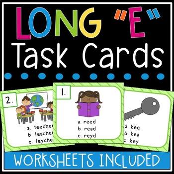 Long e Task Cards (ee, ea, e)