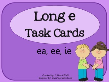 Long e Task Cards or Scoot Game