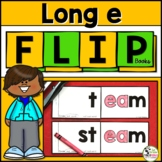 Long e (ee, ea) Word Family FLIP Books