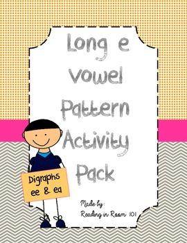 Long e Vowel Pattern Activities