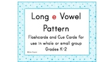 Long e Vowel Pattern Cards