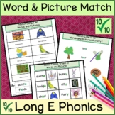 Long e Vowel Sound Matching Words and Pictures