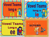 Long e Vowel Teams EE, EA, IE Power Points and Printables