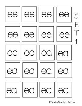Long e Vowel Teams Task Cards